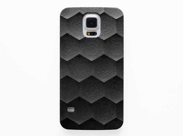 Samsung Galaxy S5 Case_Hexagon in Black Strong & Flexible