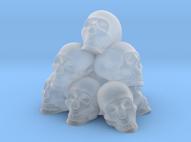 Pile of Skulls in Smooth Fine Detail Plastic