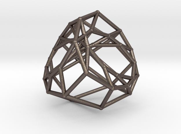 Cyclic Polytope in Polished Bronzed Silver Steel