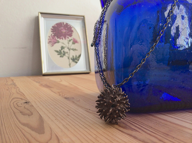 Sweetgum Tree Seed Pendant: Necklace/Earring 3d printed