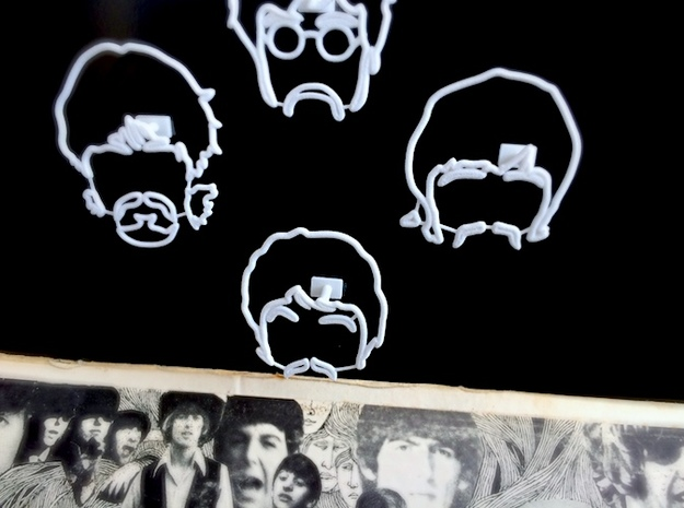 The Beatles: Wire Wall Art (Small) 3d printed
