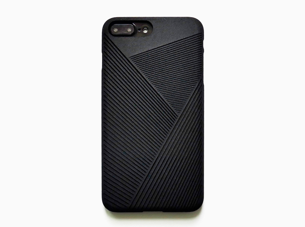 iPhone 7 plus case_Geometric No.2 in Black Strong & Flexible
