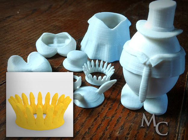 Eggcessories! Crown in White Strong & Flexible