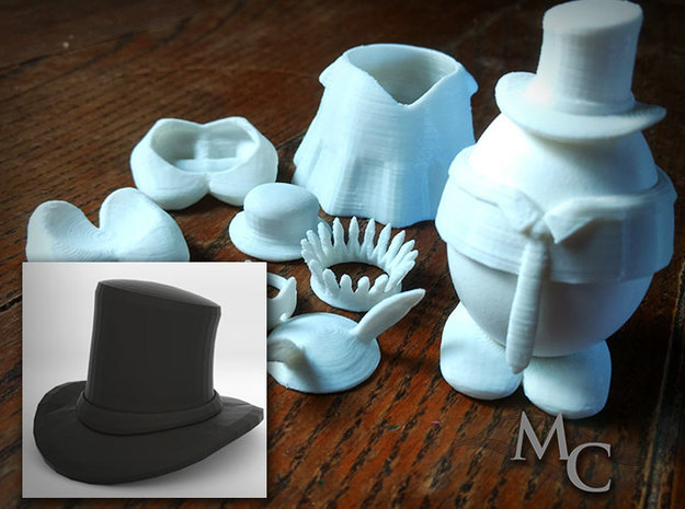 Eggcessories! Top Hat in White Strong & Flexible