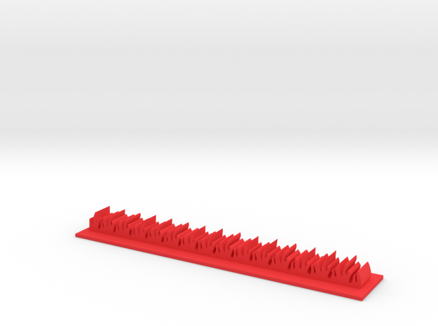 Napalm Strike Stripe in Red Processed Versatile Plastic