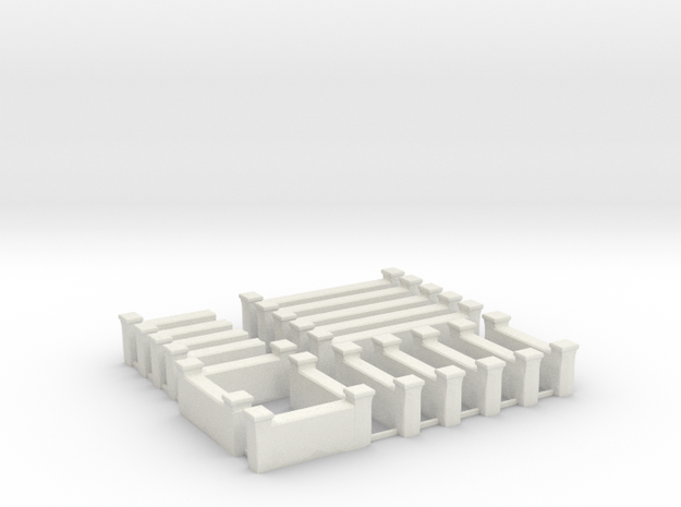 Arabic Brick Wall Sprue  in White Natural Versatile Plastic