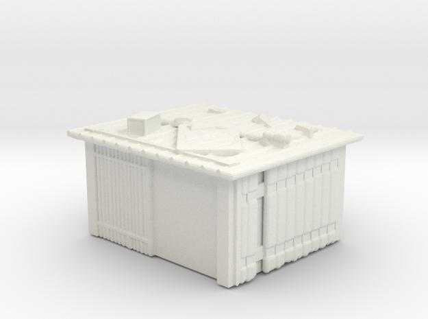 Tin Slum 5  in White Natural Versatile Plastic