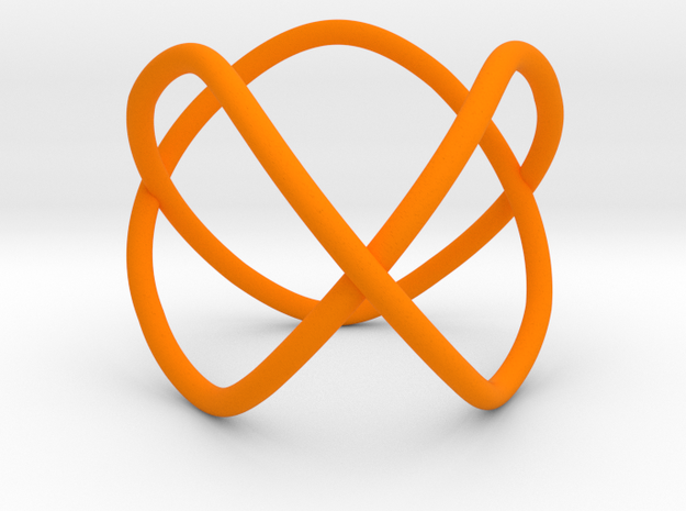 Trefoil as a 3-fold cover of the unknot in Orange Processed Versatile Plastic