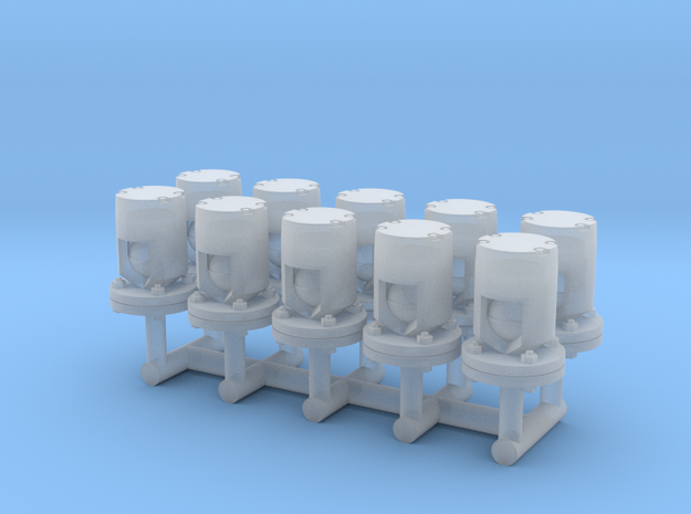 Winteb Air pipe heads_DN50 for damen ships in Smooth Fine Detail Plastic: 1:32