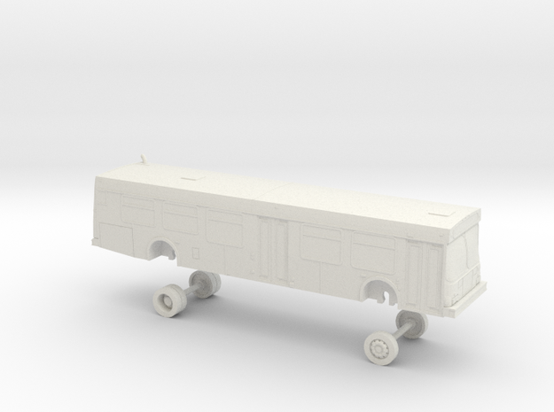 HO Scale Bus New Flyer D40LF OCTA 5200s in White Natural Versatile Plastic