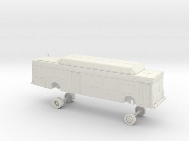 HO Scale Bus New Flyer C40LF Omnitrans 0175-0198 in White Natural Versatile Plastic