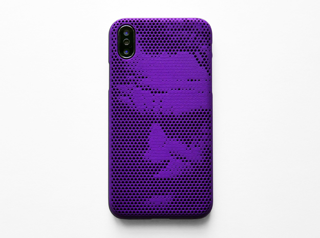 iPhone X case_Joker in Purple Processed Versatile Plastic