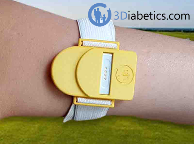 Bark Bark – Armband for MiaoMiao, the Libre reader in Yellow Processed Versatile Plastic