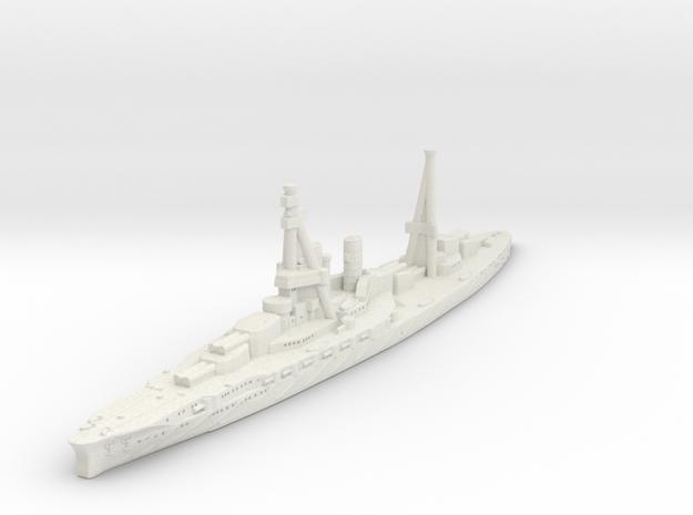 Ise Battleship-1918 (IJN) in White Natural Versatile Plastic