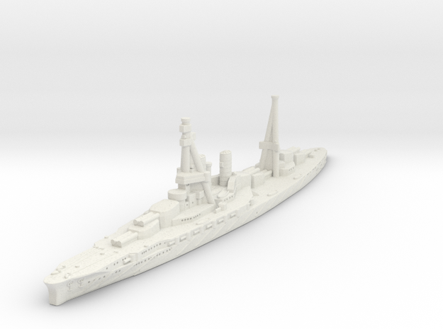 Ise Battleship-1918 (IJN) in White Natural Versatile Plastic