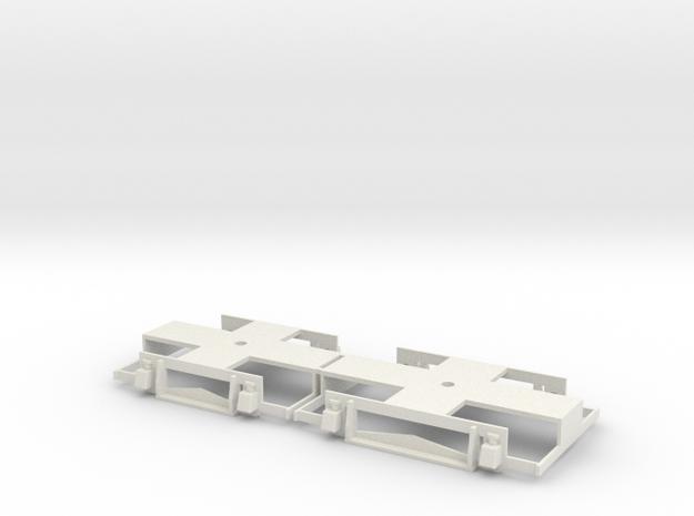 0-32-gcr-petrol-railcar-bogies in White Natural Versatile Plastic