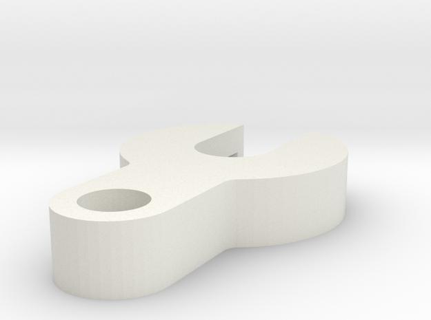 5mm LED Light Bucket Tab in White Natural Versatile Plastic: 1:10