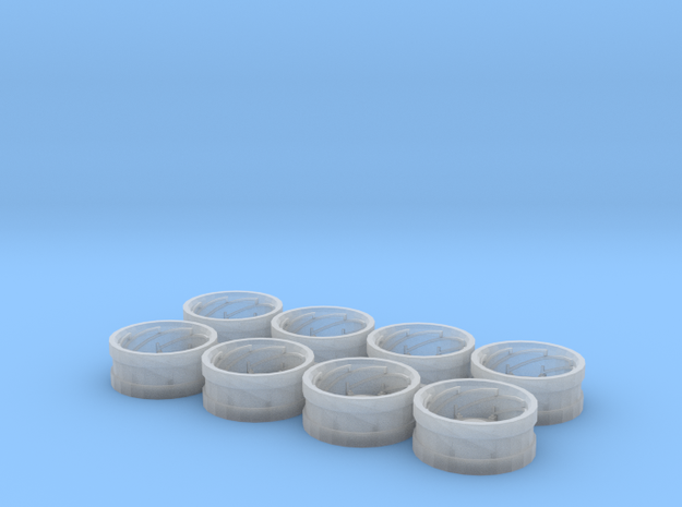 AC Power Adjust Rims Set of 8 in Smooth Fine Detail Plastic