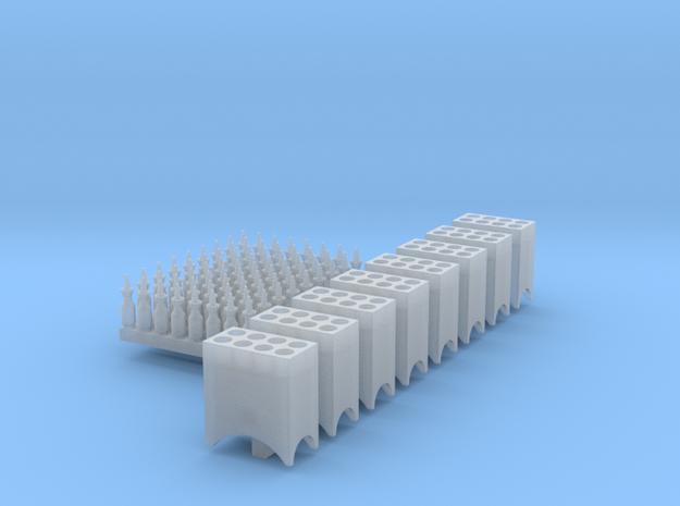 1:87 Quart Oil Bottles (72) and Racks (8) Ver 4 in Smoothest Fine Detail Plastic