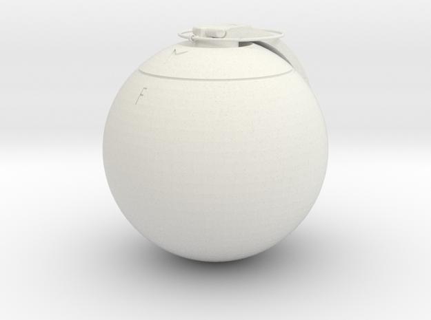 ET-MP grenade replica - 1:1 scale in White Natural Versatile Plastic