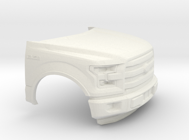 1/64  2014-17 Ford F-150 Front Piece in White Natural Versatile Plastic