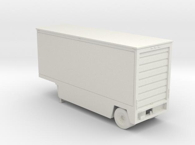 Drop Deck 28 Foot Trailer 1-87 HO Scale in White Natural Versatile Plastic