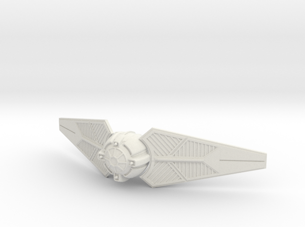 Tie Predator II in White Natural Versatile Plastic