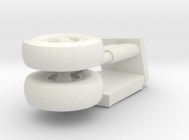 16-GIVSP-144scale-StbdsideLandingGear-Extended in White Natural Versatile Plastic