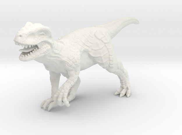 Terosaurus in White Natural Versatile Plastic