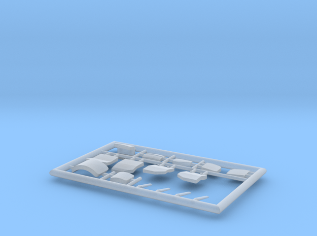 20-GIVSP-144scale-PartsFret-white in Smooth Fine Detail Plastic
