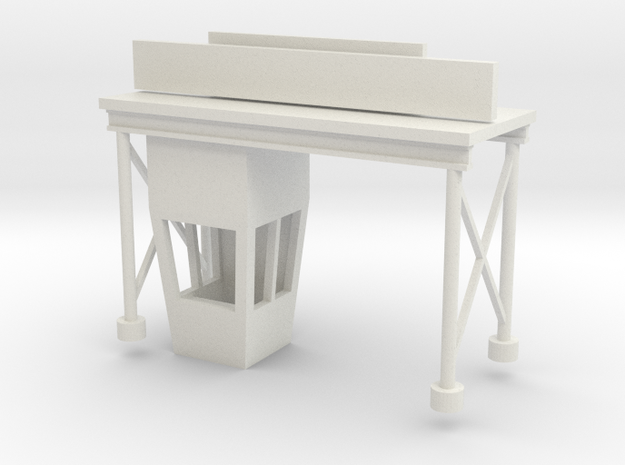 'HO Scale' - Drive-In Movie Ticket Booth in White Natural Versatile Plastic