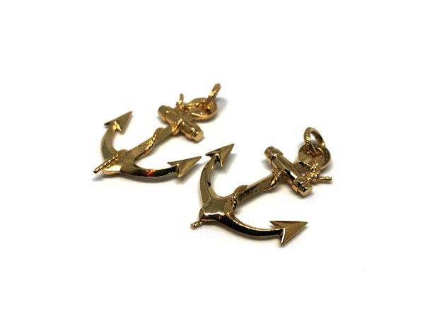 Anchor in Interlocking Raw Brass: Medium