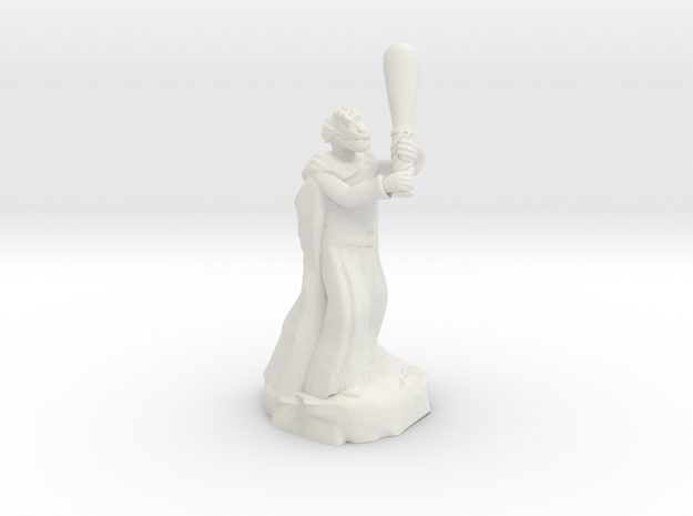 dragonborn sorcerer with greatclub in White Natural Versatile Plastic