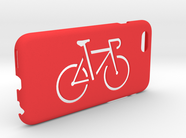 Iphone 6 case, Bicycle in Red Strong & Flexible Polished