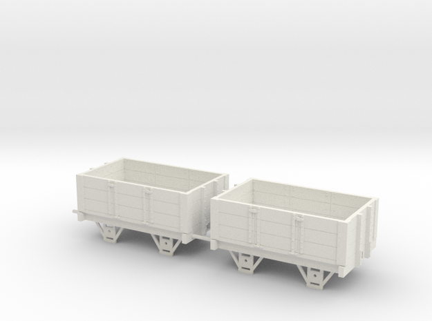 Ravenglass and Eskdale 0-21 narrow gauge 3 planks in White Natural Versatile Plastic