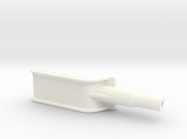 Lancia Delta 1 Hat shelf support 2 in White Processed Versatile Plastic