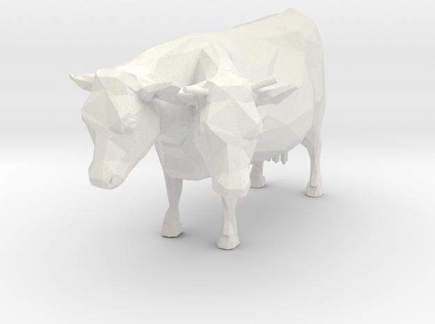 2-head Cow in White Natural Versatile Plastic