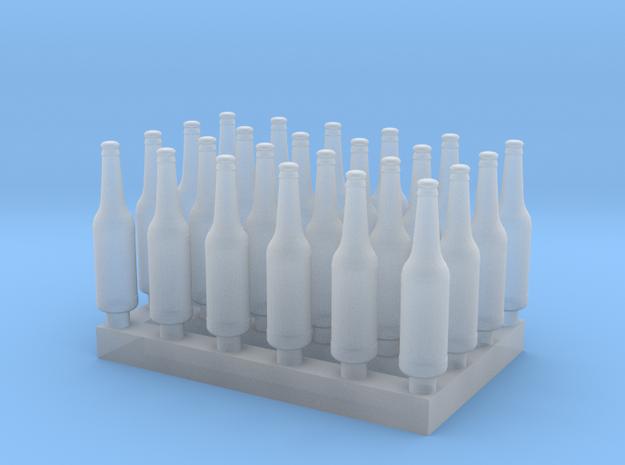 1:48 Beer/Soda bottles V3 - 24 ea in Smoothest Fine Detail Plastic
