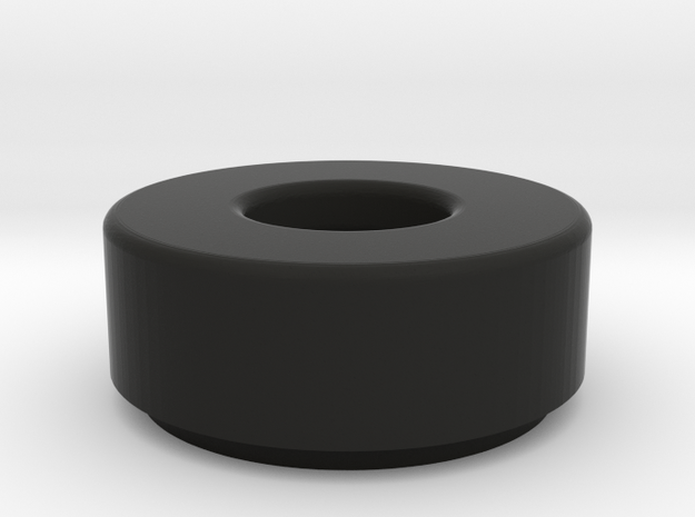 1x1 Round Tile w/ Bar Hole in Black Natural Versatile Plastic