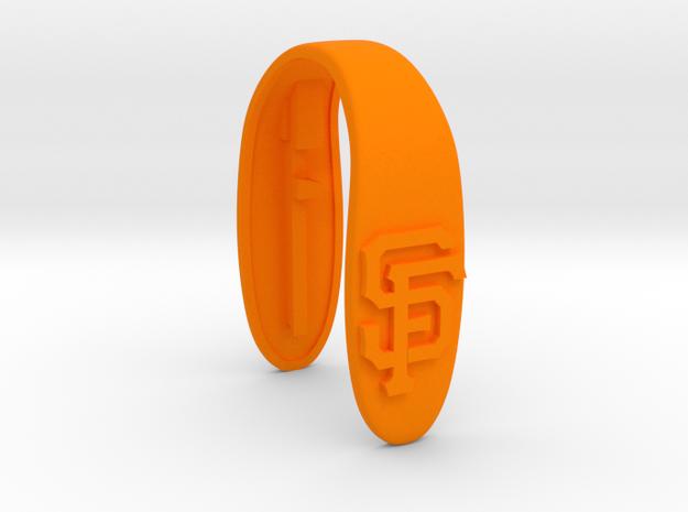 SF key fob  in Orange Processed Versatile Plastic