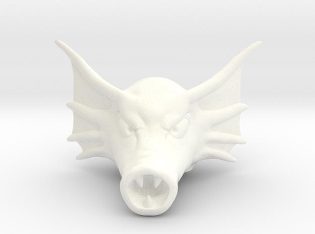 Fishman Head in White Processed Versatile Plastic