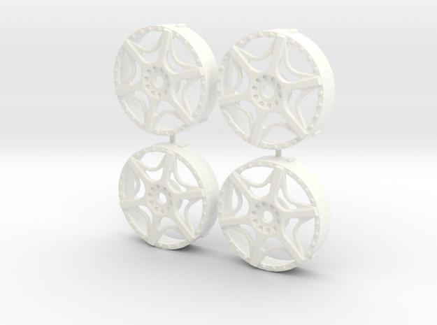 MST / AIM MA6 Insert (x4) in White Processed Versatile Plastic