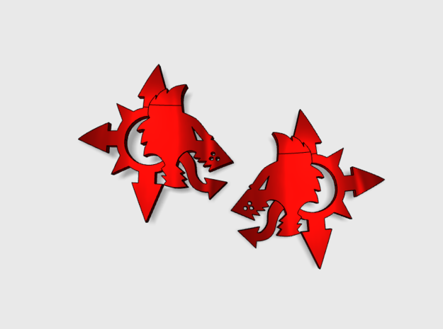 60x Chaos Wolves - Shoulder Insignia pack