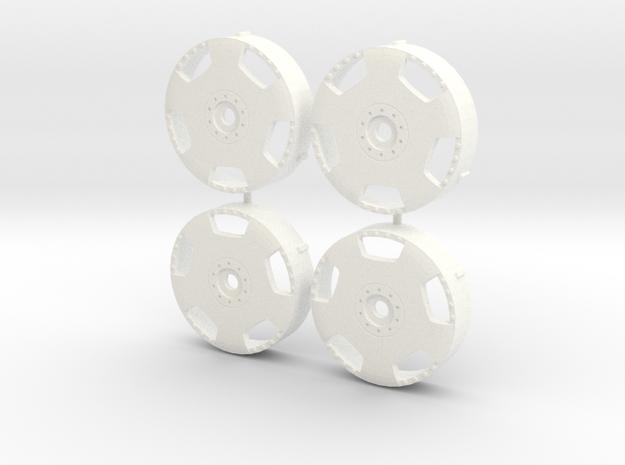 MST / Work Euroline Type DH Insert (x4) in White Processed Versatile Plastic