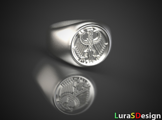 German Eagle Ring in Stainless Steel