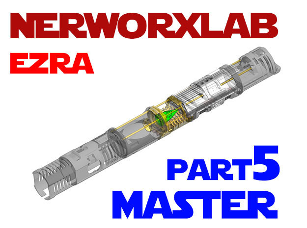 NWL Ezra - Master Part5 Lightsaber Chassis in Smooth Fine Detail Plastic