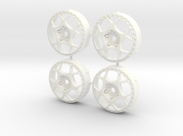 MST / HRE 541 Insert (x4) in White Processed Versatile Plastic