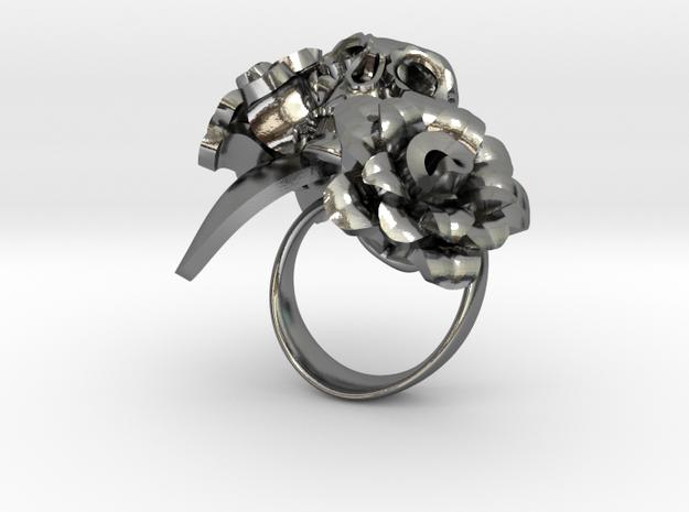 dia de los Muertos rose in Polished Silver: 8 / 56.75
