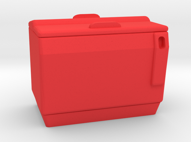 Cola Drink Box Vintage in Red Processed Versatile Plastic: 1:64 - S
