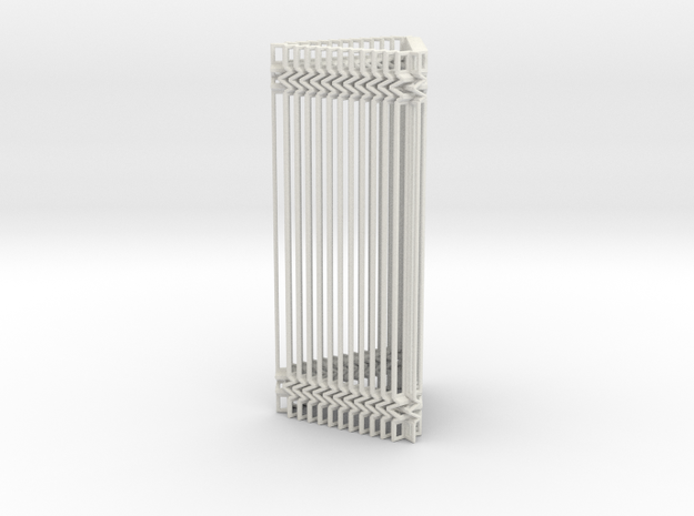 Triangular Accordion Column Openwork Design in White Natural Versatile Plastic